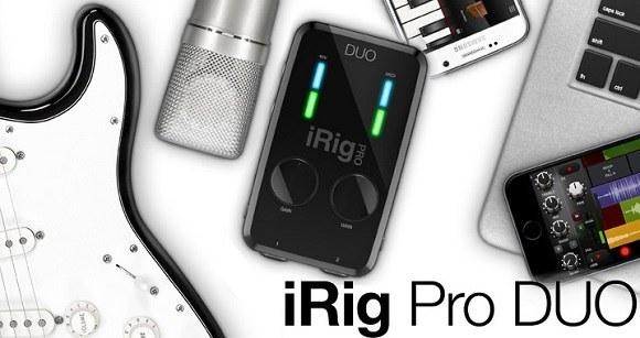 Мобильный двухканальный аудиоинтерфейс IK MULTIMEDIA iRIG PRO DUO