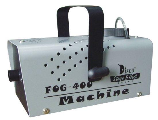 Генератор легкого дыма Мощность: 400W Бак: 0,3 литра Нагрев: 5 минут Проводное управление Защита от перегрева Размер: 24 х 16,5 х 12,5 см Вес: 2 кг
