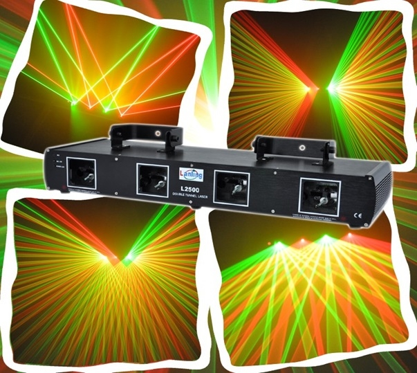Лазер LanLing L2500 Four Lens Red:100mW+100mW+Green:25mW+25mW