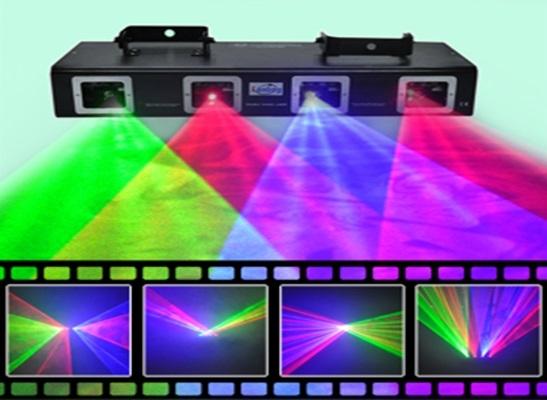 Лазер LanLing L2500RRGB Four Lens Red:100mW+100mW+Green:50mW+Blue:150