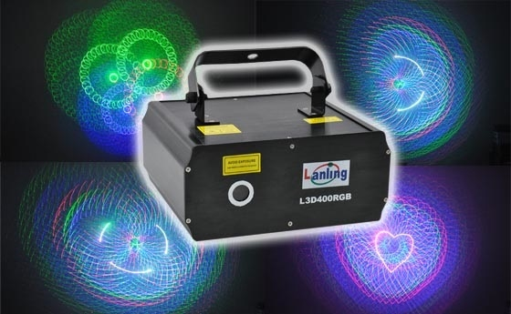 Лазер LanLing L3D400RGB 400mW RGB 3D Laser Light