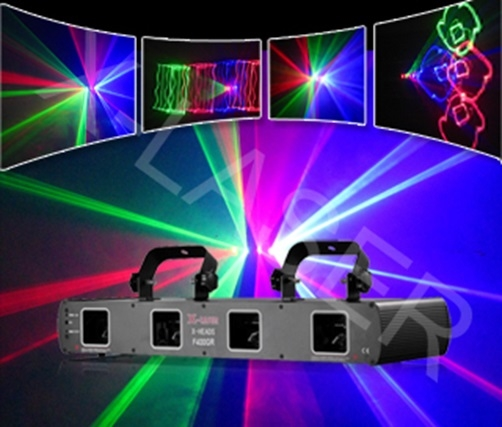 Лазер X-Laser X-HEADS 574 Four heads RGRsB laser light