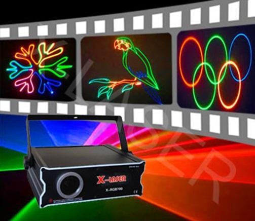 Лазер анимационный X-Laser X-RGB 705 500mW Full Color Laser Light