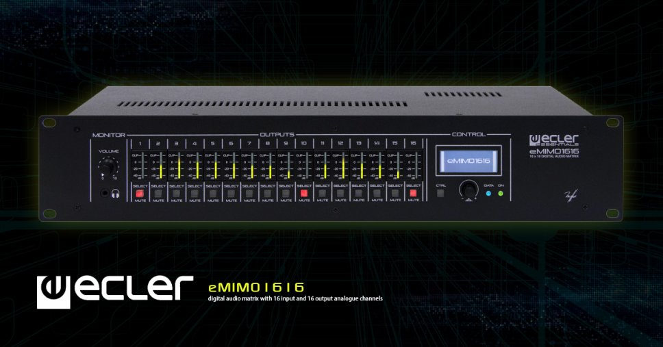 цифровая звуковая матрица eMIMO1616
