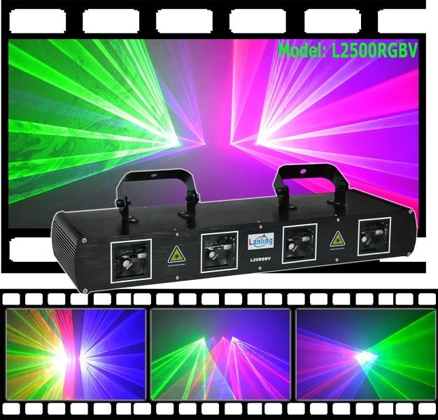 Лазер LanLing L2500RGBV Four Lens Red:100mW+ Green:50mW+Blue:150+150mW