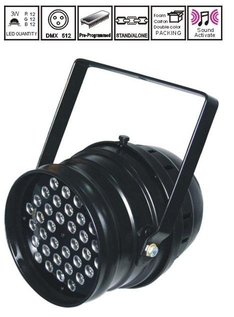 Пар New Light NL-1202B LED HIGH POWER PAR64 LIGHT 36*3W (RGB)