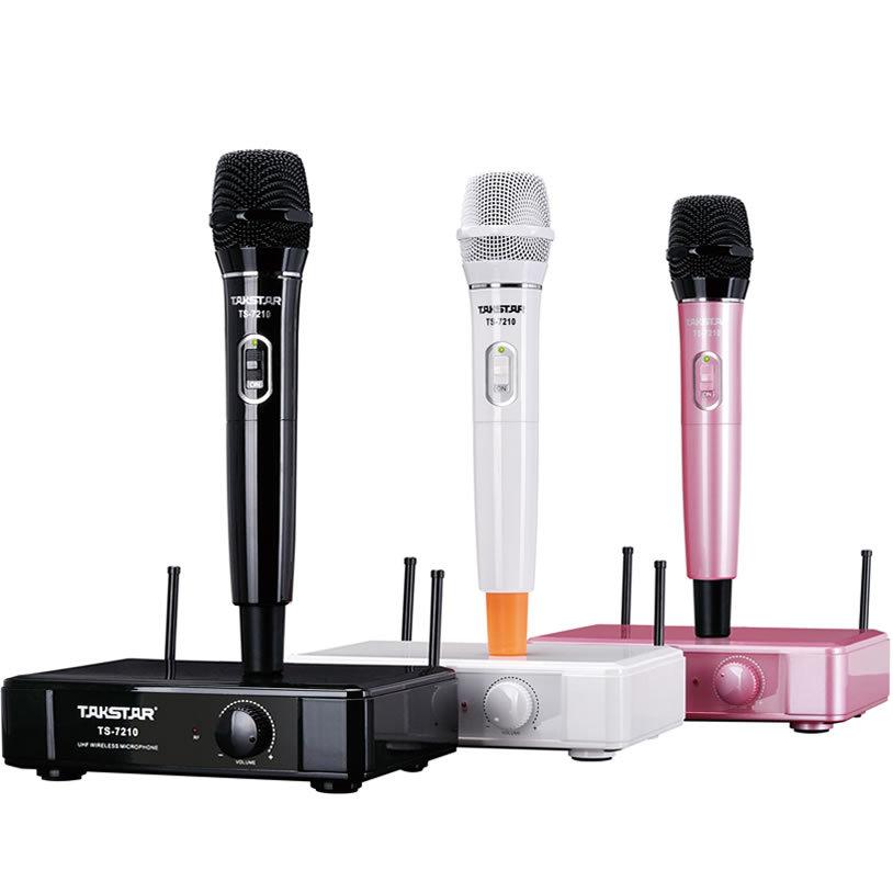 Беспроводной микрофон Takstar TS-7210 Pink UHF