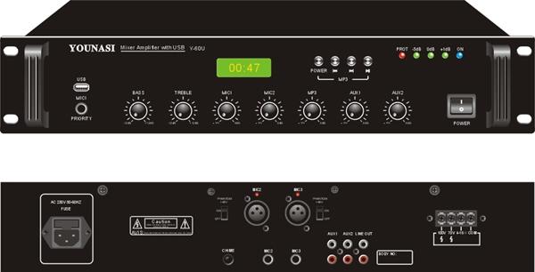 Усилитель Younasi Y-60U, 60Вт, USB