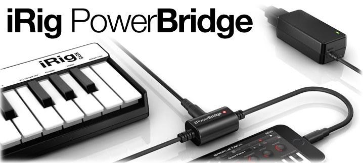 Универсальное зарядное устройство для iPhone, iPad и iPod touch работающих с цифровыми устройствами IK MULTIMEDIA IRIG PowerBridge