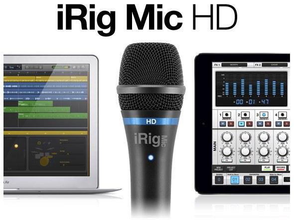Ручной конденсаторый микрофон для iOS/Android/Mac/PC IK MULTIMEDIA iRIG MIC HD